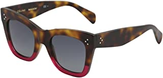 Celine CL41090/S 23A Havana/Fuchsia CL41090/S Square Sunglasses Lens Category