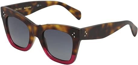 Celine CL41090/S 23A Havana/Fuchsia CL41090/S Square Sunglasses Lens Category