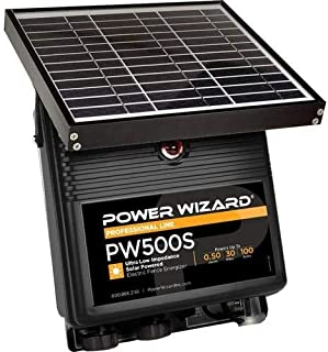 Power Wizard PW500s, 12V Solar Electric Fence Charger 0.5 Joule Output