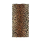 nobrand Sexy Leopard Print Bath Towels Large Soft Luxury Cotton Bathroom Towels for Men Women Hotel Spa Pool Gyms Swimming Bath Beach Towel Clearance