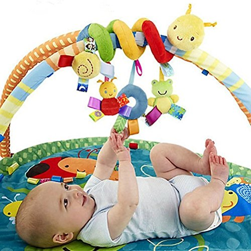 Vpsan Baby Spirale Plüschtiere Spielzeug für Babyschale Kinderwagen