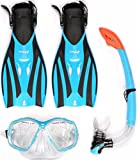 Two Bare Feet VP Combo PVC PVC ADULTS Fins Mask and Snorkel Snorkelling