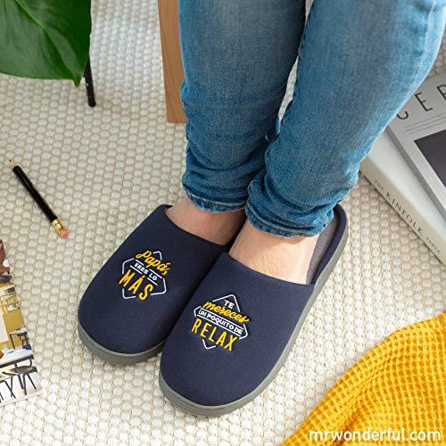 Mr. Wonderful Zapatillas de casa, 80% algodón, Multicolor, Única