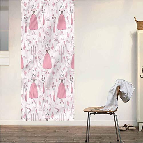 Poppy Ramsden Princess ONE Piece Door Stickers Wall Murals,Princess Mystic Candles Peel and Stick Vinyl Door Mural Decals for Door/Wall/Fridge,32x95 Inch