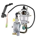 uxcell New Dual Fuel Carburetor LPG NG Conversion Kit for Gasoline Generator 4.5-5.5KW GX390 188F w Manual Choke