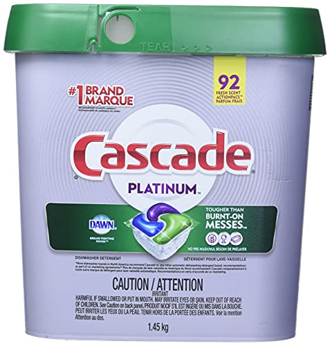 Product Image of the Cascade Platinum Dishwasher Detergent 92 Scent ActionPacs Net Wt 51.2 Ounce