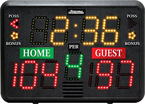 Sportable Scoreboards Multisport Indoor Tabletop Scoreboard