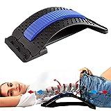 Binwwe Alivio lumbar Dispositivo de Estiramiento, para inferior y superior Lumbar Espina atrás Alivio del dolor Masajeadores de Espalda Apoyo Ajustable (A, 370 * 245mm)
