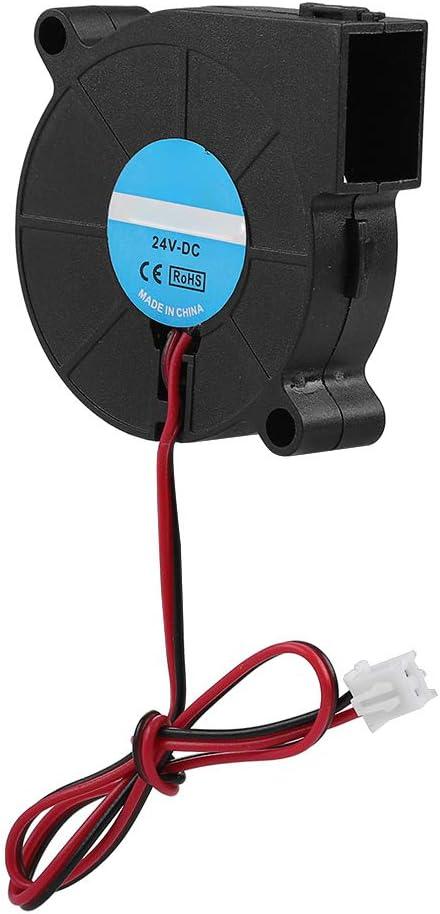 Demeras Ventilador 5015 12V 24V Ventilador Turbo Ventilador Turbo Ventilador Ventilador de refrigeración para Impresora 3D Accesorios de Bricolaje(24V)