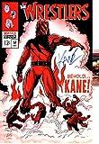 WWE WWF KANE Autographed 11X17 POSTER ART Photo JSA COMIC AVENGERS 57 PARODY