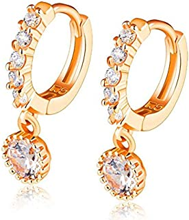 OPK Korean Style Fashion Cubic Zirconia Dangle Earring For Women