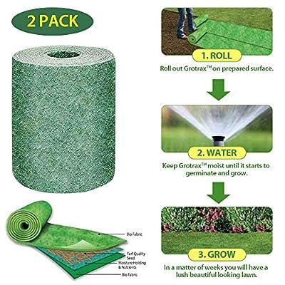 Biodegradable Grass Seed Mat, 10FT Lawn Garden ...