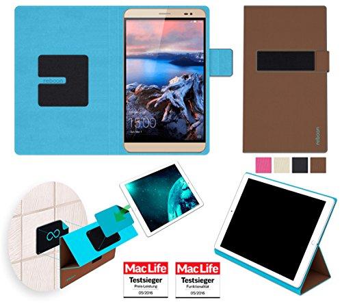 Hülle für Huawei MediaPad X2 Tasche Cover Hülle Bumper | in Braun | Testsieger
