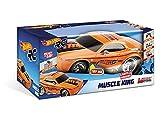 Hot Wheels - Mondo Motors - Voiture de Course radiocommandée - Muscle King - 26cm - Sons et lumières - Jouet Enfant - 3 Ans et Plus - 63507