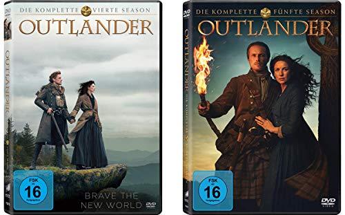 Outlander - Die komplette Season / Staffel 4+5 im Set - Deutsche Originalware [9 DVDs]