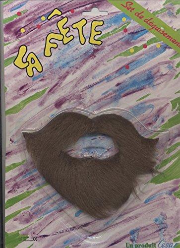 Cesar Moustache à la hongroise Poivre et sel avec bouc en Ancre postiche Deguisement