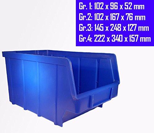 10 Stück Stapelboxen – blau – stapelbar/Sichtbox/Regalbox/Lagerbox (1)