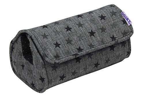 Original Dooky Arm Cushion Grey Star Polsterkissen Armschoner mit Klettverschluss für Babyschale universale Passform, grau