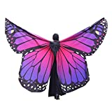 Hniunew Schmetterling Schal SchmetterlingsflüGel Outfit Cosplay Show KarnevalskostüM MäDchen Tanzen wasserdichte Jacke Schmetterling KostüM FaschingkostüMe Tuch Erwachsene Poncho Umhang