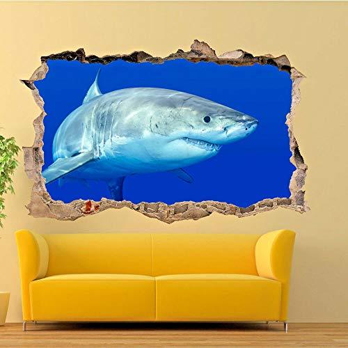 Wandsticker SU1, Motiv Weißer Hai, Meg, 3D-Poster