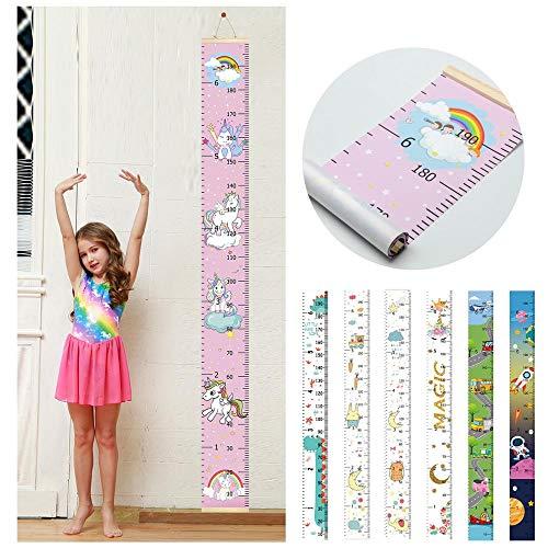 Regenbogen-Einhorn Kinder-Wachstumstabelle Wandaufkleber Wandaufkleber, Lineal, Maßstab für Kinder, Jungen und Mädchen