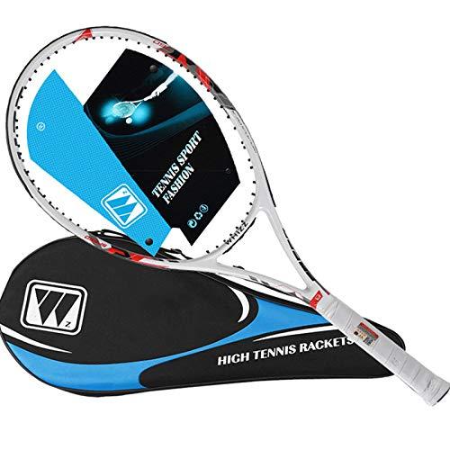 """HEWXWX Raqueta de Tenis 27"""", Raqueta de Tenis Carbon Composite para Adultos Adolescentes Principiantes, Tamaño de la empuñadura 4 1/4 con Bolsa de Cordaje de Tenis Gratis,A"""
