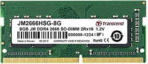Transcend JM2666HSB-8G Arbeitsspeicher 8 GB DDR4 2666 MHz Arbeitsspeicher Modul (8 GB, DDR4, 2666 MHz, SO-DIMM)