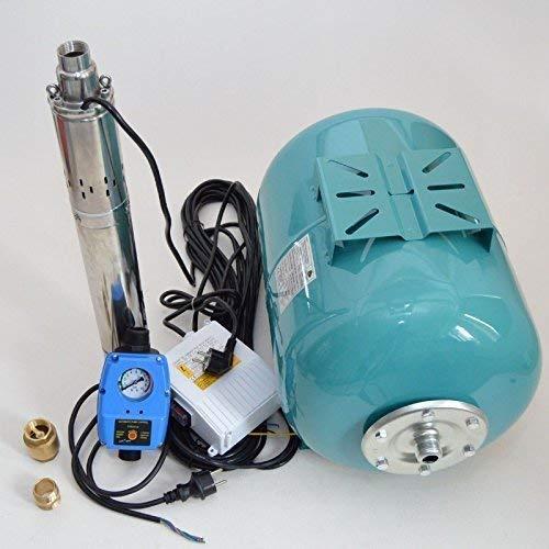 Huiswaterpomp 50L + diepe bronpomp van roestvrij staal met ingekapselde motor 3