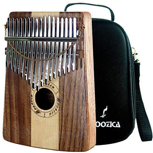 Moozica kalimba professionale a 17 tasti, Pianoforte da pollice di alta qualità con custodia protettiva (Koa&Spruce-K17SD)