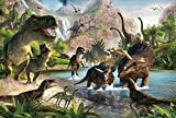 1000 Pieces Dinosaur Jigsaw Puzzles for Adults & Kids - Dino Educational Intellectual Game Gift Set for Stimulating Imaginations