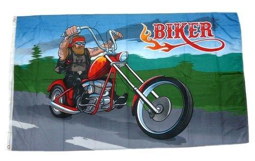 Fahne / Flagge Biker Motorrad 90 x 150 cm