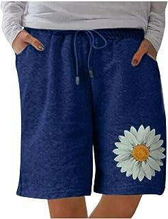 Beishi Womens Casual Home Pants, Women Holiday Floral Pocket Shorts Ladies Summer Beach Hot Pants