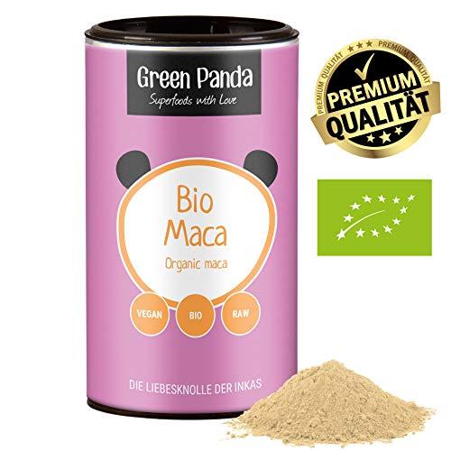 Maca peruviana biologica delle Ande, maca in polvere ideale per preparare bevande e capsule di maca, testata in laboratorio e certificata, maca polvere di Green Panda, 170 g