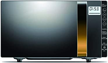 WONOOS Horno de microondas Inteligente, con función de descongelación, con Pantalla LCD, múltiples Modos de menú, Adecuado para cocinar, Asar a la Parrilla, Hornear Pasteles, fácil de Limpiar