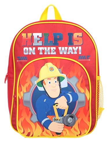 Brandweerman Sam Help op de weg Pocket Rugzak Rood