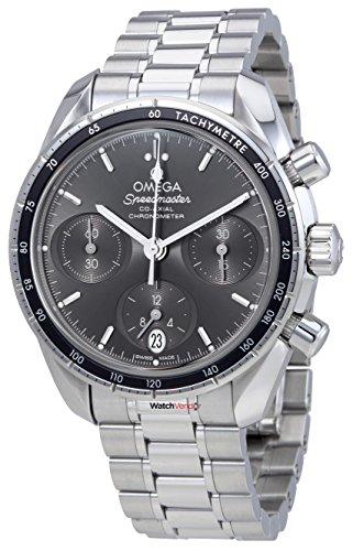 Omega Speedmaster Co-Axial quadrante grigio automatico Mens Chronograph...