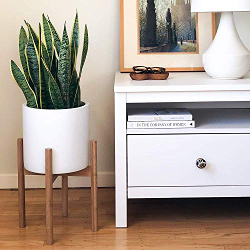 STNDRD. Bamboo Indoor Plant Stand: Mid-Century Modern. for Indoor Potted Plants. Fits 10-inch Round Planters (2-Pack)