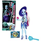 Monster High Mattel Year 2011 Skull Shores Series 10 Inch Doll - Abbey Bominable Daughter of The Yeti with Coconut-Shaped Cup, Purple Hat, Earrings, Map Card, Hairbrush and Doll Stand (W9184)