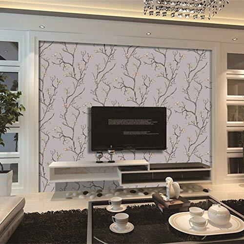 MXLSG 0.53M × 10M Europese Slaapkamer Woonkamer Studie Hoge Kwaliteit Waterdichte Behang Suede TV Achtergrond Behang Moderne Minimalistische Non-Woven Wallpaper Rook Grijs