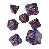Q Workshop Starfinder Dead Suns RPG Ornamented Dice Set 7 Polyhedral Pieces