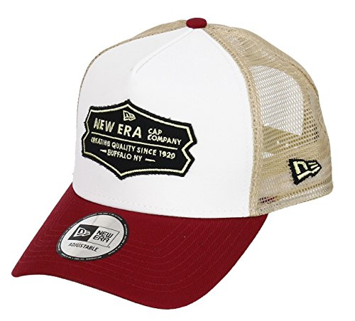New Era Distressed Patch Red White A-Frame Trucker Cap - One-Size