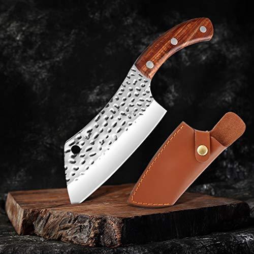 Cuchillo de cocinero cuchillo de acero de acero inoxidable de alto carbono cuchillo de cocina afilada de cuchillo de cuchillo de filete de cuchillo de cuchillo de manga de cuero cuchillos