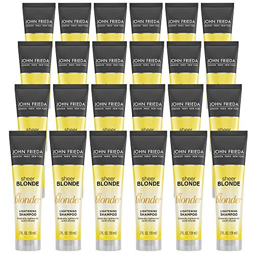 John Frieda Sheer Blonde Go Blonder Shampoo, 2 Ounce Gradual Lightening Shampoo, with citrus and chamomile, featuring our BlondMend Technology (Pack of 24)