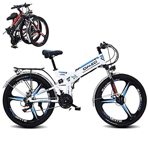 SXZZ Bicicleta De Montaña Eléctrica Plegable, E-Bike De 24 Pulgadas, Bicicleta Eléctrica...