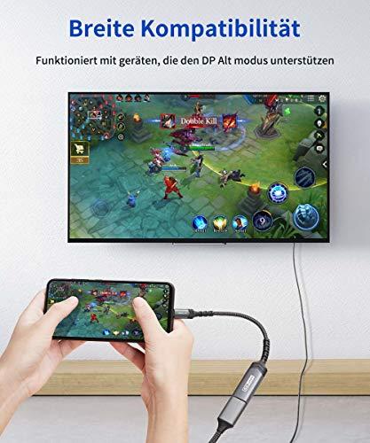 JSAUX USB C HDMI Adapter 4K@60Hz, USB Typ C zu HDMI Adapter [Thunderbolt 3] Kompatibel mit MacBook Pro 2019/2018, iPad Pro 2020, Dell XPS 13/15, Samsung S20/S20+/Note20, Huawei P40/P30/P20 Grau