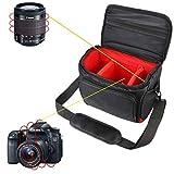 Khanka Funda Impermeable para cámara réflex Digital Nikon D3400,D3300, D5600,D5500,D5300, D7500,D7200,D750,D850, Canon EOS 4000D, 2000D 1300D,800D,750D,77D 80D 7D 200D. (XL, Negro/Rojo)