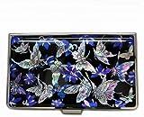 Schmetterling Kredit Visitenkartenetui Luxus Metall Edelstahl Design Handarbeit Namenskartenetui Blau