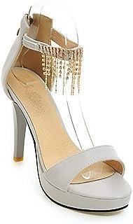 BalaMasa Womens ASL06545 Pu Platform Heels