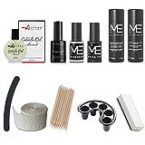 kit semipermanente unghie mesauda me gel polish + ultrabond + omaggio olio cuticole altÉax® + smalti semipermanenti da 5ml base/top e colore