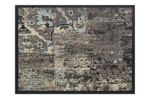 ID Mat tapijt, kunstvezel, blauw, 80 x 60 x 0,6 cm